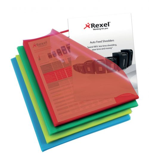 Rexel Nyrex Cut Folders A4 Clear 12216AS (PK100)