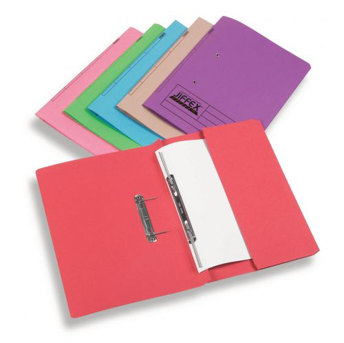 Rexel Jiffex Pocket Transfer File Foolscap Red (Pack of 25) 43318EAST