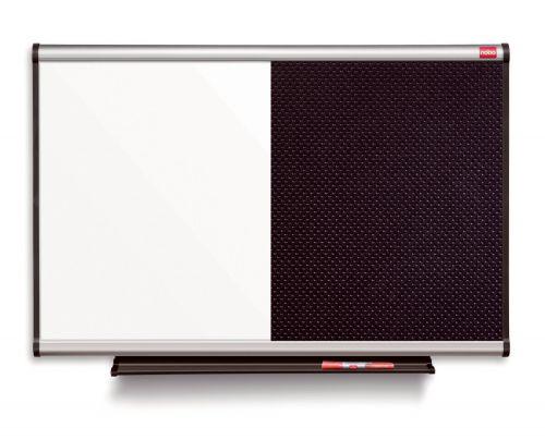 Nobo Prestige Combination Black Foam/Magnetic Whiteboard Aluminium Frame 1200x900mm