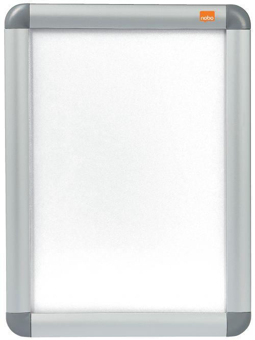 Nobo Clip Down Frame A4 Aluminium Frame Plastic Front Silver/Grey 1902214
