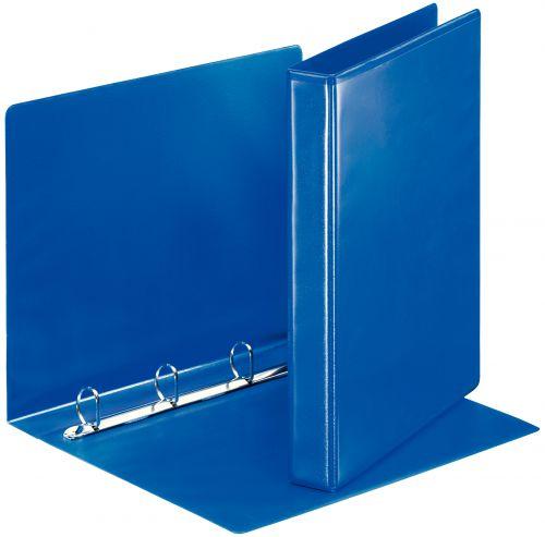 Esselte Essentials Presentation Ring Binder Polypropylene 4 D-Ring A4 25mm Rings Blue (Pack 10) 49732