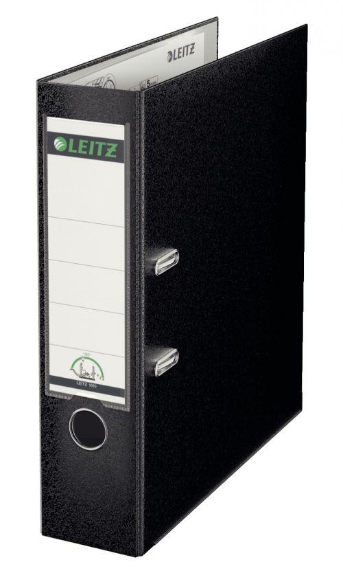 Leitz Plastic 180 Lever Arch File A4 80mm Black 10100095