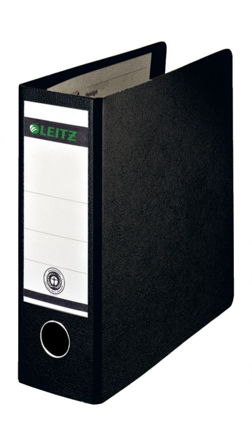 Leitz Board Lever Arch File A5 Upright 77mm Spine Black 310700095 [Pack 5]