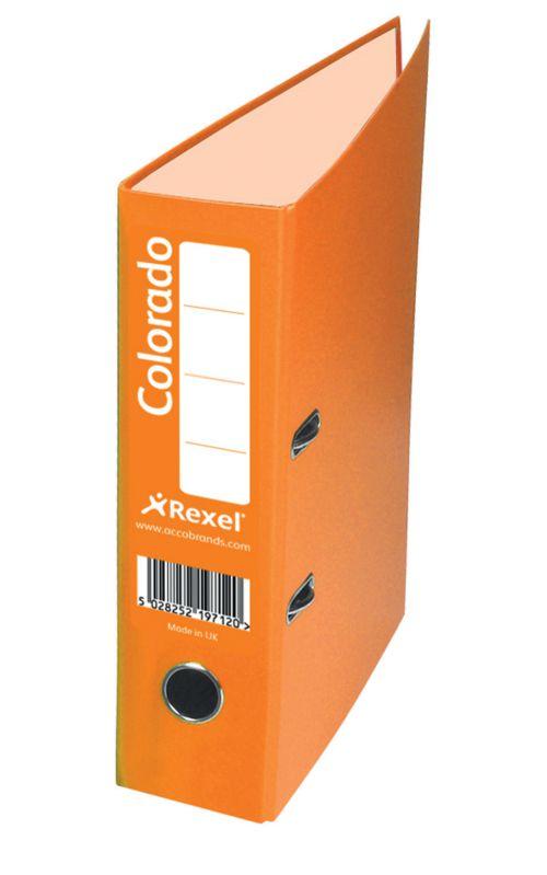 Rexel Colorado Lever Arch File 80mm Spine A4 Orange PK10