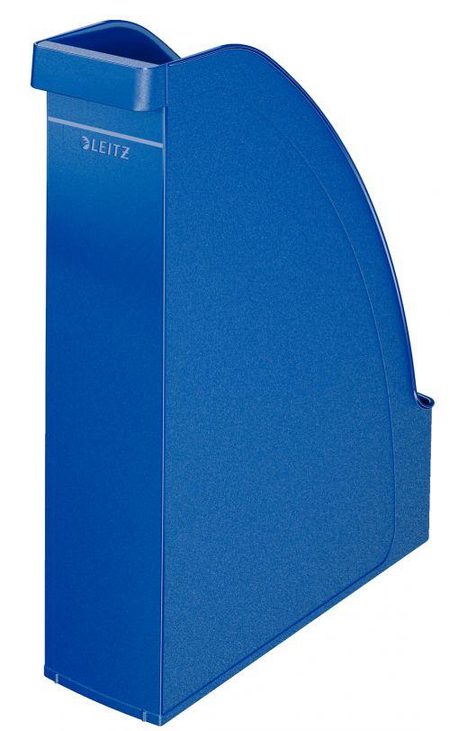 Leitz Plus Magazine File A4 Blue - Outer carton of 6