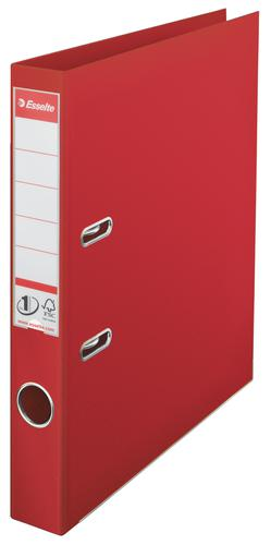 Esselte No.1 Lever Arch File Polypropylene, A4, 50 mm, Red - Outer carton of 10