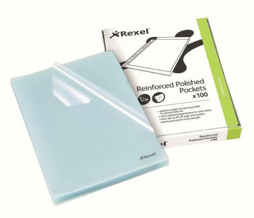 Rexel Cut Flush Folder Polypropylene A4 Clear (Pack of 100) 12215