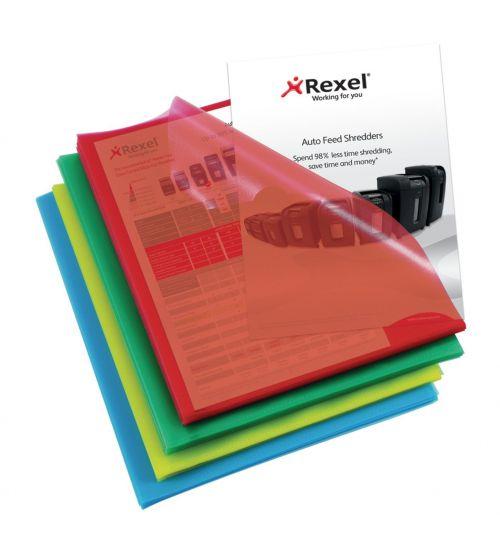Rexel Cut Flush Folders Polypropylene A4 Assorted (Pack of 100) 12216AS