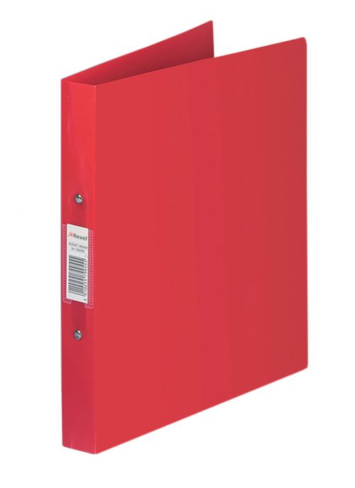 Rexel Budget Ring Binder Polypropylene 2 O-Ring A4 25mm Rings Red (Pack 10)