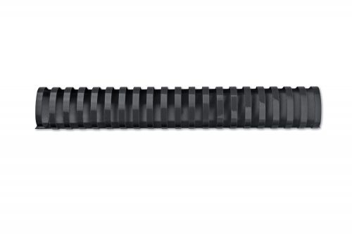 GBC CombBind Binding Combs, 45mm, 390 Sheet Capacity, A4, 21 Ring, Black (Pack of 50)