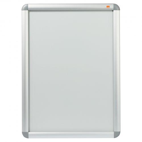 Nobo Clip Down Frame A2 Aluminium Frame Plastic Front Silver/Grey