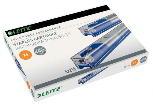 Leitz 5551 Heavy Duty Stapler Cartridge [6mm Blue] 55910000 [Pack 5]