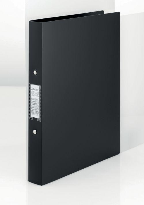 Rexel Budget Binder 2-Ring A4 25mm Black 13422BK