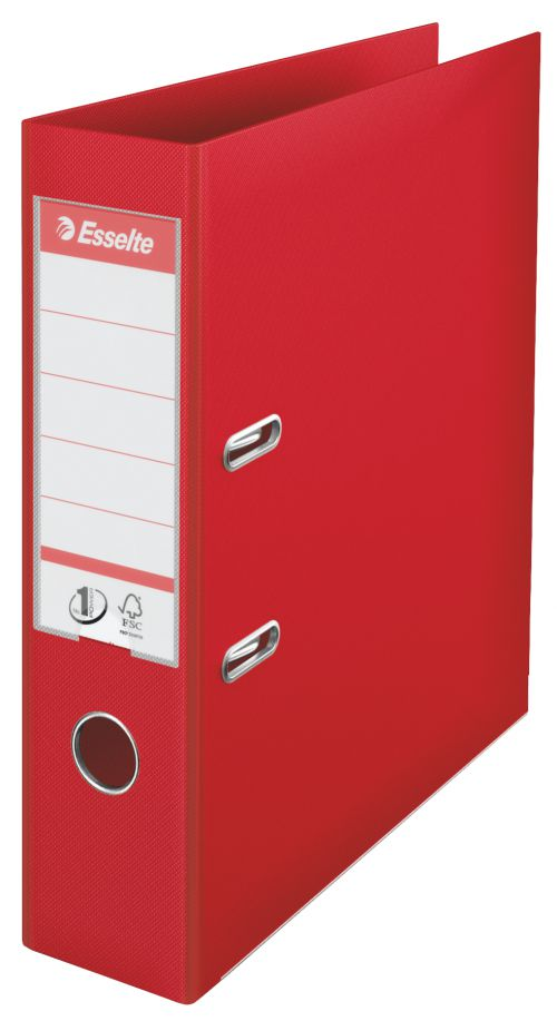 Esselte No.1 Lever Arch File Slotted 75mm Spine A4 Red - Outer carton of 10