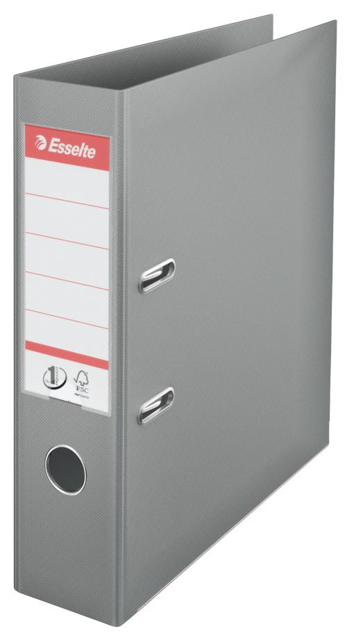Esselte No.1 Lever Arch File Polypropylene A4 75mm Spine Width Grey (Pack 10)