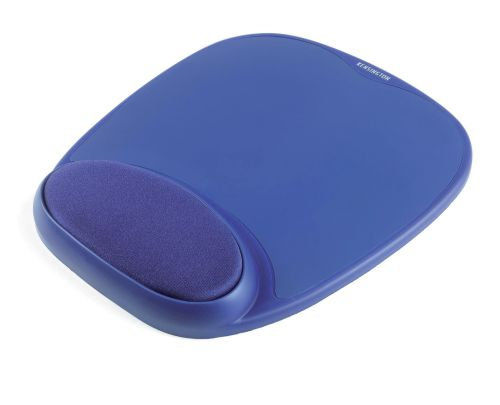 Kensington Mouse Mat Pad with Wrist Rest Foam Blue