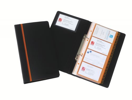 Rexel Optima Slim Business Card Book to hold 128 Cards 2101131