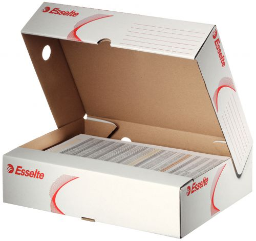 Esselte Standard Archiving Box A4 80mm Spine with Wide Opening White