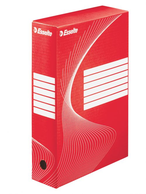 Esselte Standard Archiving Box, A4, 80mm - Red