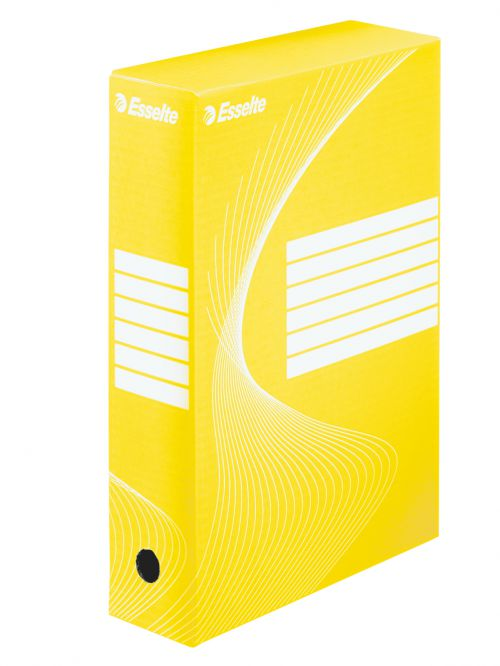 Esselte Standard Archiving Box, A4, 80mm - Yellow