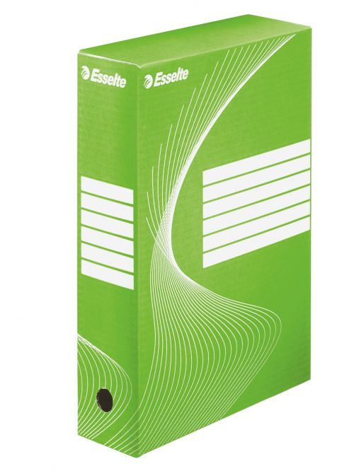 Esselte Standard Archiving Box, A4, 80mm - Green