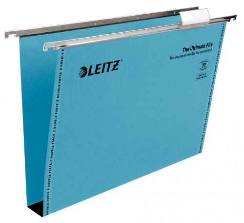 Leitz Ultimate Clenched Bar Suspension File Foolscap - Blue (Pack of 50)