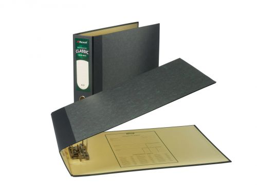 Rexel Classic Lever Arch File Paper on Board A3 80mm Spine Width Oblong Black/Green (Pack 2)