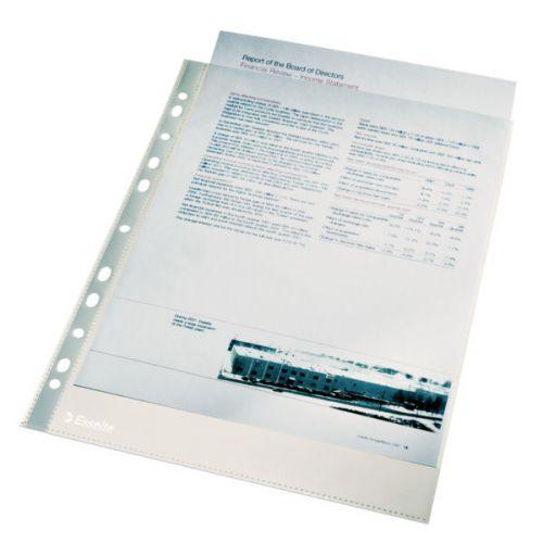 Esselte Pocket A4, 0.04mm Polypropylene, Glass clear (100)