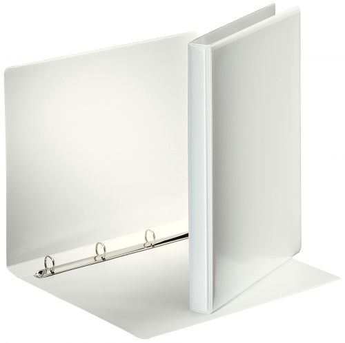 Premium Presentation Binder A4 4 D-Ring 15mm Capacity White