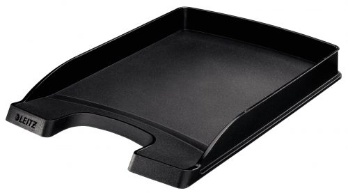 Leitz Plus A4 Slim Letter Tray - Black - Outer carton of 10