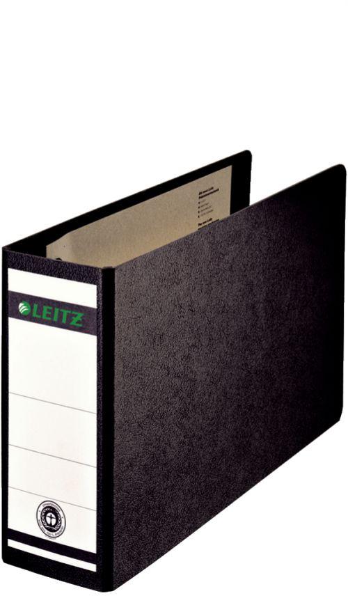 Leitz Board Lever Arch File A5 Oblong 77mm Spine Black 310710095 [Pack 5]