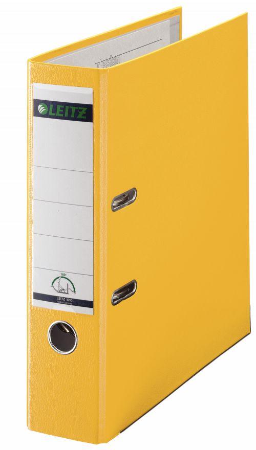Leitz 180° Lever Arch File Polypropylene A4 80mm Yellow - Outer carton of 10