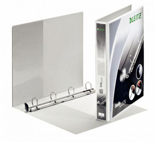 Leitz Premium SoftClick Presentation Ring Binder Polypropylene 4 D-Ring A4 Plus 25mm Rings White (Pack 6) 42010001