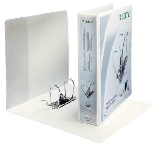 Leitz 180° Presentation Lever Arch File A4 80mm Spine White - Outer carton of 10