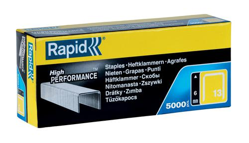 Rapid No. 13 Finewire staples 6mm (Pack 5000)