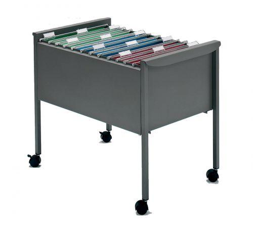 Rexel Filemate Suspension File Trolley Titanium Grey 50559