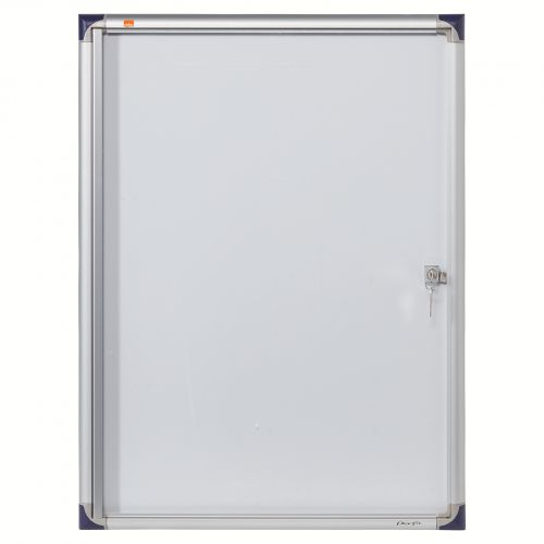 Nobo Extra Flat Magnetic Glazed Case 4 x A4 550x735mm