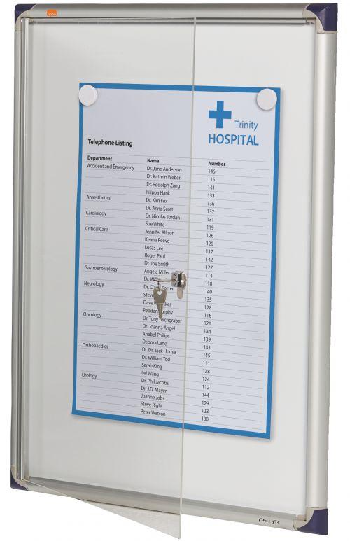 Nobo Extra Flat Glazed Case 4xA4 Magnetic 1900846 Glazed Notice Boards NB10826