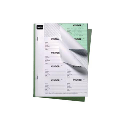 Nobo Visitor Badge Book - Black (25 Sheets)