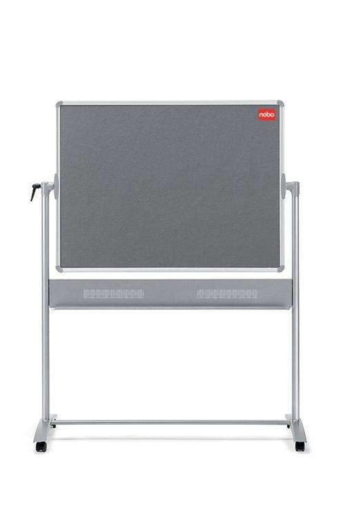 Nobo Mobile Combination Board Magnetic Steel and Grey Felt 1200 x 900mm