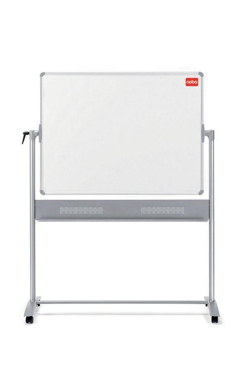 Nobo Combination Felt/Steel Mobile Board 1200 x 900mm Grey/White 1901043 by ACCO Brands, NB11842
