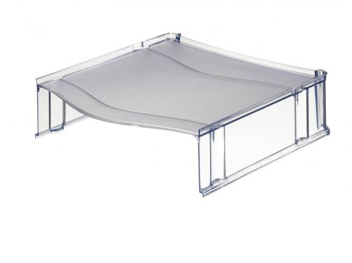 Leitz Plus Letter Tray Riser Transparent Smoked Grey - Outer carton of 6