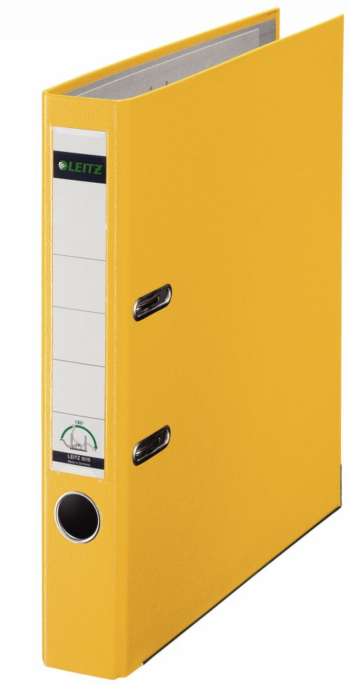 Leitz 180° Lever Arch File Plastic A4 50mm Yellow - Outer carton of 10