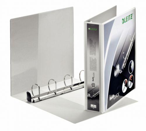 Leitz Premium SoftClick Presentation Ring Binder Polypropylene 4 D-Ring A4 Plus 40mm Rings White (Pack 4) 42030001