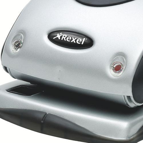 Rexel Precision P225 Hole Punch Silver/Black 2100743