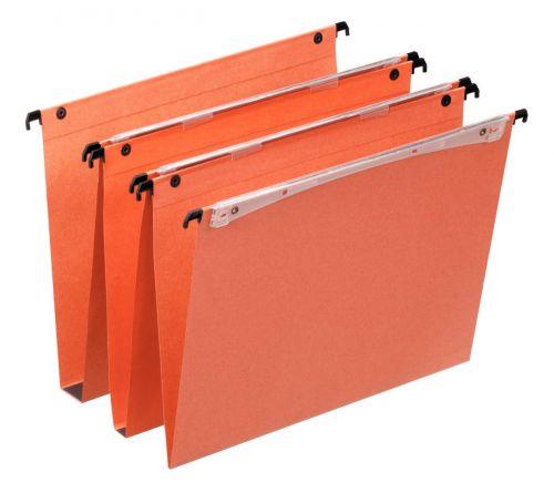 Esselte Orgarex Uniscope Suspension Files A4 220gsm 30mm Base Orange (Box 25)