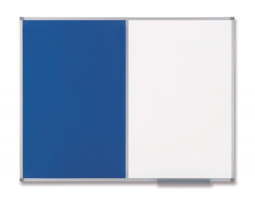 Nobo Classic Combi Board Mag Drywipe/Felt Blue 900x1200mm