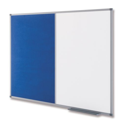 Nobo Classic Combi Blue Felt/Steel Noticeboard 1200x900mm 1902258 NB19703
