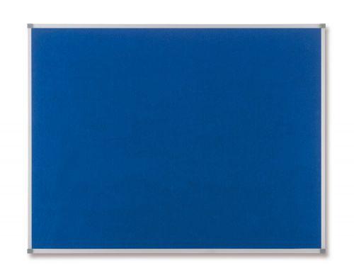 Nobo Classic Noticeboard Felt with Aluminium Frame W1800xH1200mm Blue Ref 1900982