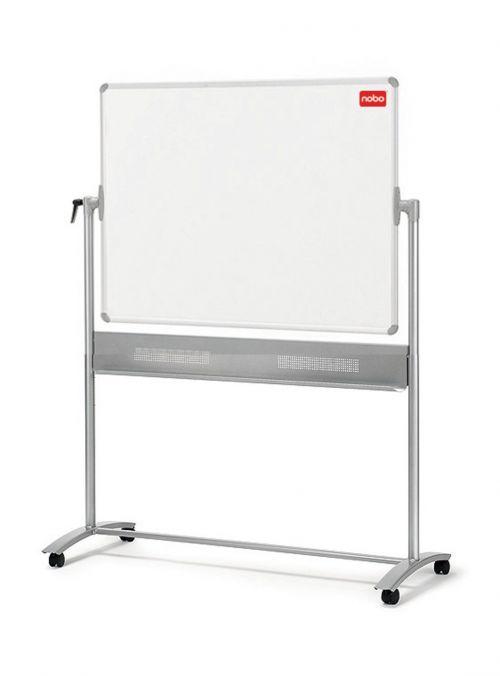 Nobo Mobile Nano Clean Whiteboard Easel Magnetic Steel Horizontal Pivot W1200xH900mm Board Ref 1901029